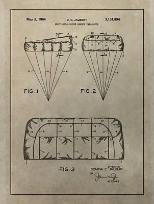 Vintage Parachute Patent Art Print