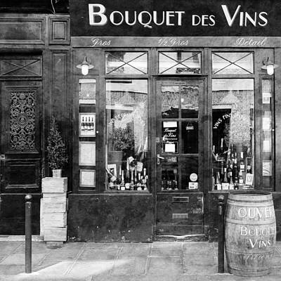 Paris Wine Bottles Photograph - Vintage Paris 11c by Andrew Fare