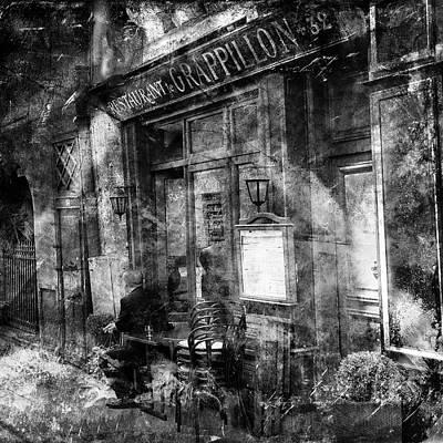 Photograph - Vintage Paris Cafe 1 by Andrew Fare