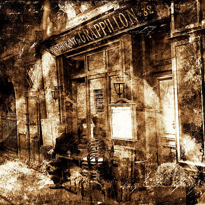 Photograph - Vintage Paris Cafe 1b by Andrew Fare