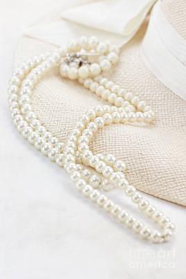 Vintage Pearls Art Print by Stephanie Frey