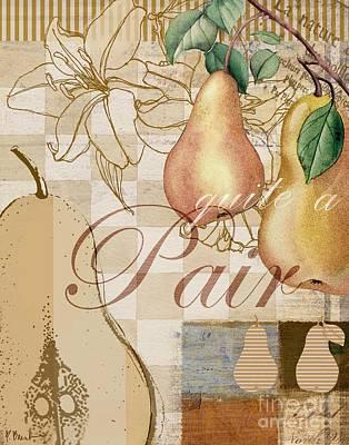 Painting - Vintage Pears II by Paul Brent