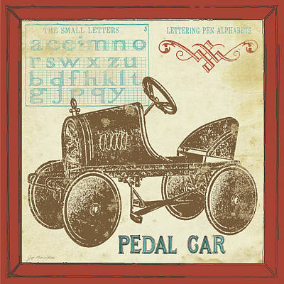 Retro Wall Art - Painting - Vintage Pedal Car by Jo Moulton
