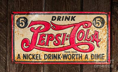 Vintage Pepsi Cola Ad Art Print