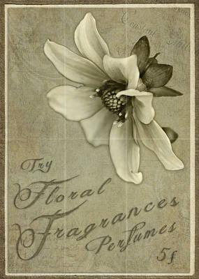 Vintage Perfume Poster Art Print