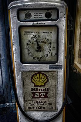 Vintage Petrol Pump Art Print by Martin Newman