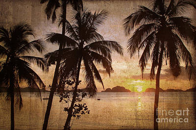 Beach Sunset Photograph - Vintage Philippines by Delphimages Photo Creations