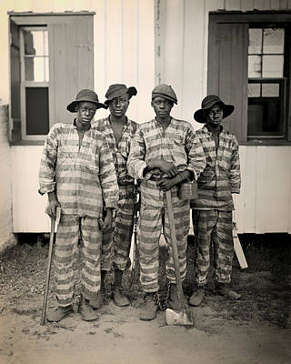 Vintage Photo Of A Southern Chain Gang Print by Mountain Dreams