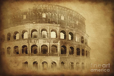 Vintage Photo Of Coliseum In Rome Art Print