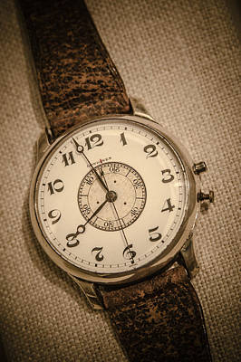 Photograph - Vintage Pilots Watch by Bradley Clay