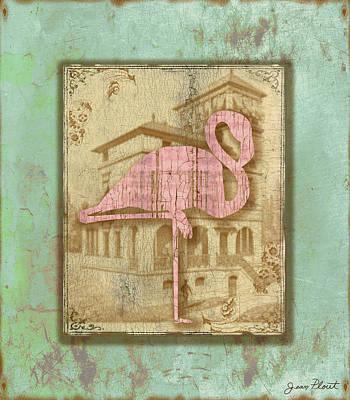 Vintage Pink Flamingo-2 Original