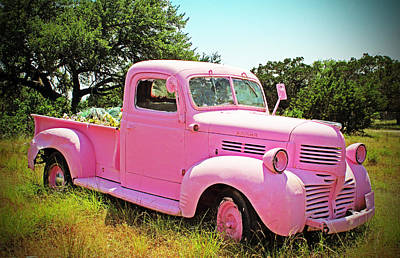 Photograph - Vintage Pink Truck by Brooke Fuller