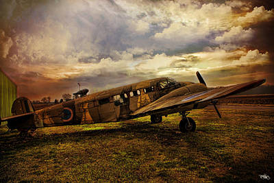 Vintage Plane Print by Evie Carrier