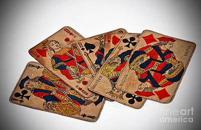 Photograph - Vintage Playing Cards Art Prints by Valerie Garner