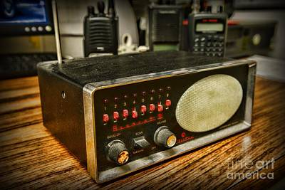 Bearcats Photograph - Vintage Police Scanner by Paul Ward