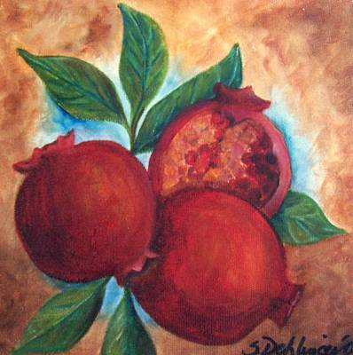 Painting - Vintage Pomegranates Sold by Susan Dehlinger