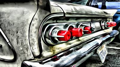 Painting - Vintage Pontiac Taillights by Florian Rodarte