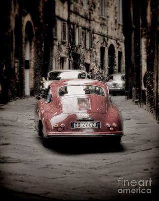 Sienna Italy Photograph - Vintage Porsche by Karen Lewis