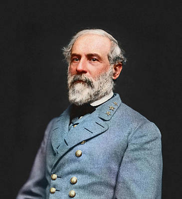 Digital Enhancement Photograph - Vintage Portrait Of Confederate Civil by John Parrot
