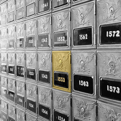 Photograph - Vintage Post Office Boxes by Andrew Fare