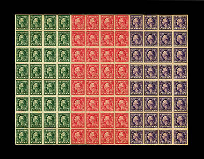 Photograph - Vintage Postage Stamps 1916 by Andrew Fare