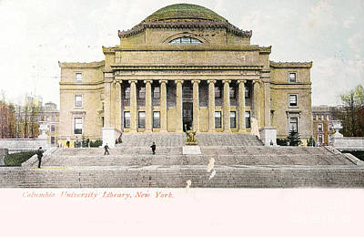 Photograph - Vintage Postcard Of Library Of University Of Columbia by Patricia Hofmeester