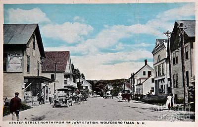 Vintage Postcard Of Wolfeboro New Hampshire Art Prints Art Print