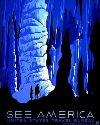 Vintage Poster - Carlsbad Caverns National Park Art Print