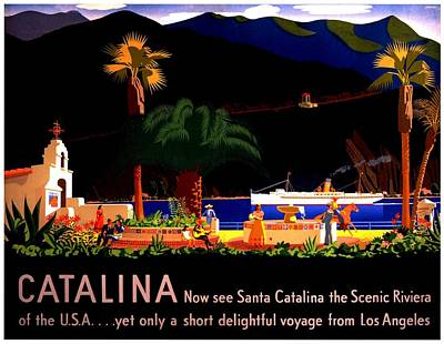 Photograph - Vintage Poster - Catalina by Benjamin Yeager
