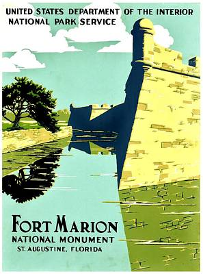 Photograph - Vintage Poster - Fort Marion by Benjamin Yeager