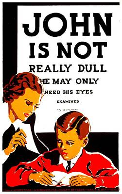 Eye Chart Photograph - Vintage Poster - Not Really Dull by Benjamin Yeager