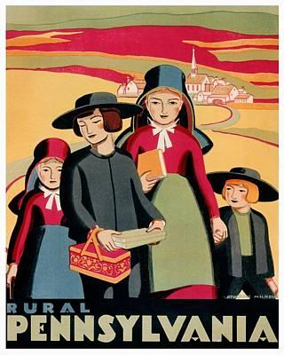 Pennsylvania Dutch Photograph - Vintage Poster - Rural Pennsylvania by Benjamin Yeager