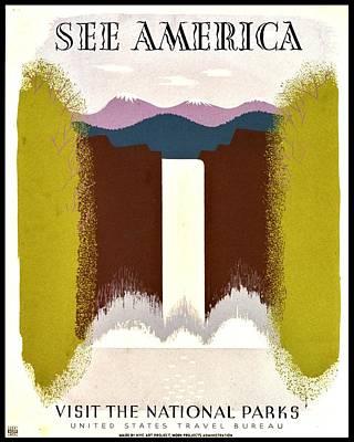 Vintage Poster - See America Art Print