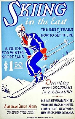 Vintage Poster - Sports - Skiing Art Print