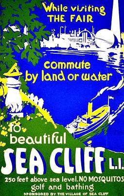 Photograph - Vintage Poster - Visit Sea Cliff by Benjamin Yeager