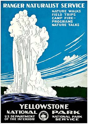 Photograph - Vintage Poster - Yellowstone National Park by Benjamin Yeager