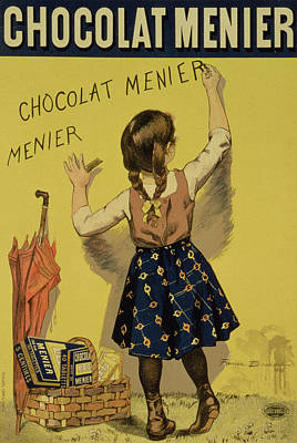 Box Drawing - Vintage Poster Advertising Chocolate by Firmin Bouisset
