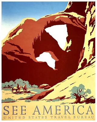 Photograph - Vintage Poster - Arches National Park by Benjamin Yeager