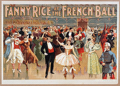 At Poster Mixed Media - Vintage Poster Fanny Rice At The French Ball by R Muirhead Art