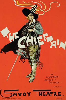 Theater Drawing - Vintage Poster For The Chieftain At The Savoy by Dudley Hardy