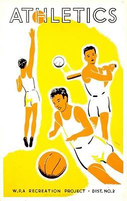 Baseball Game Photograph - Vintage Poster - Wpa - Athletics 1 by Benjamin Yeager