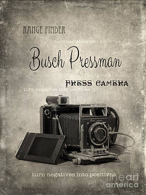 Photograph - Vintage Press Camera by Jill Battaglia