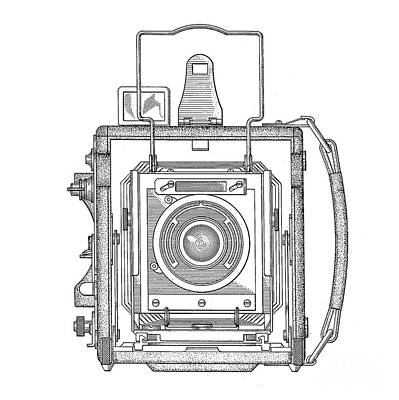 Digital Art - Vintage Press Camera Patent Drawing by Edward Fielding