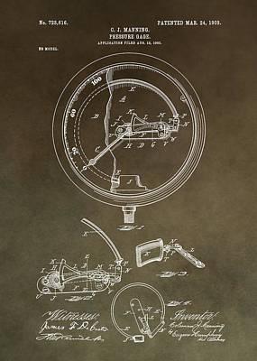 Vintage Pressure Gauge Patent Art Print by Dan Sproul