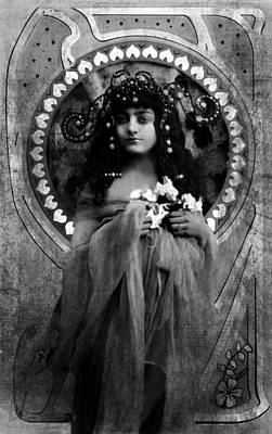 Photograph - Vintage Princess Bw by Lesa Fine