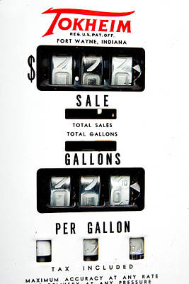 Photograph - Vintage Pump Panel by Lawrence Burry