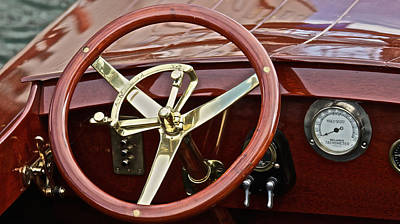 Photograph - Vintage Race Boat by Steven Lapkin