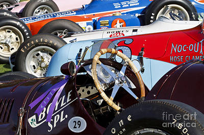 Photograph - Vintage Racecars by Dennis Hedberg