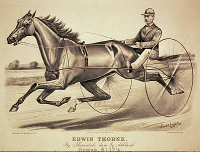Digital Art - Vintage Racing Poster Of Edwin Thorne by Lesa Fine