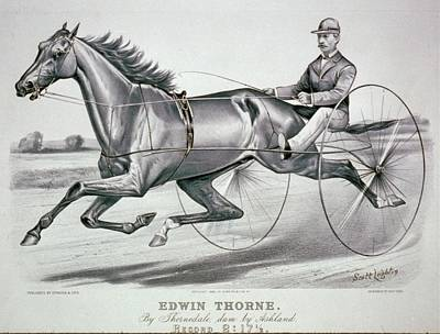 Photograph - Vintage Racing Poster Of Edwin Thorne Sepia by Lesa Fine